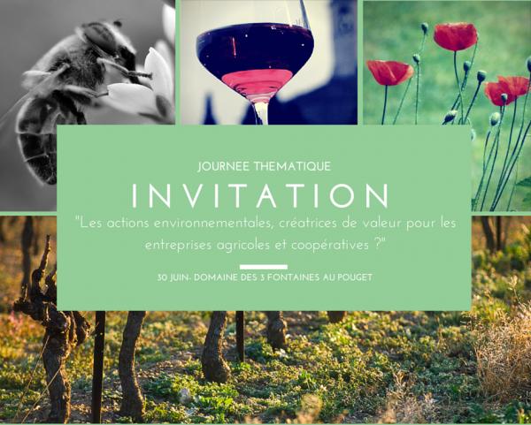 Journée THEMA : « Les actions environnementales créatrices de valeur pour les entreprises agricoles et les coopératives »